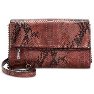 INC Averry Embossed Tunnel Foldover Crossbody